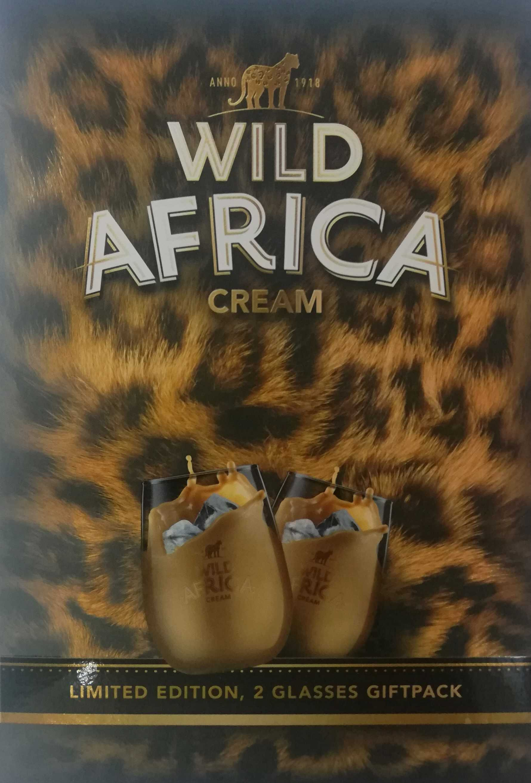 WILD AFRICA CREAM 750ML+2 GLASSES