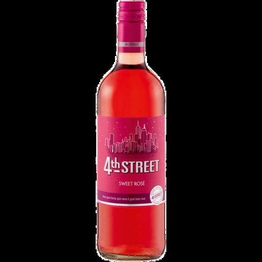 4TH STREET NATURAL SWEET ROSE 750ML