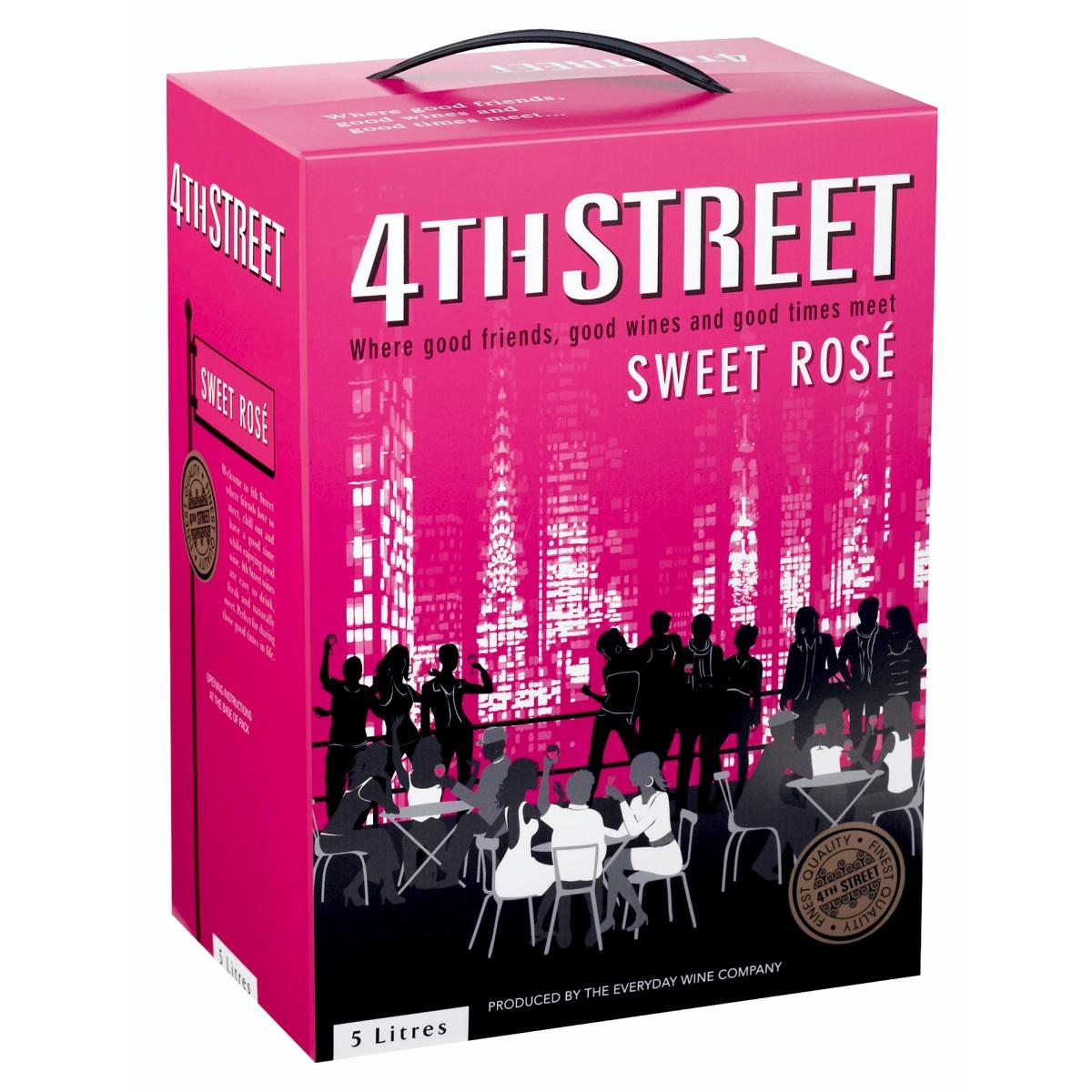 4TH STREET NATURAL SWEET ROSE 5L