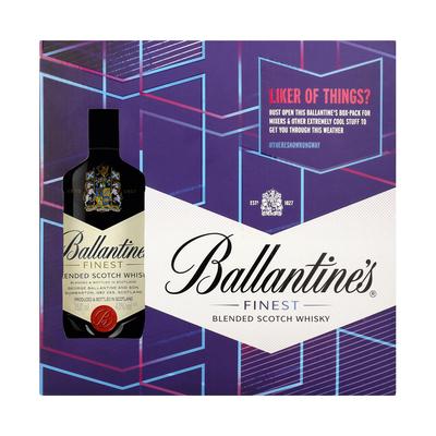 BALLANTINE'S WHISKY GIFT PACK 750ML