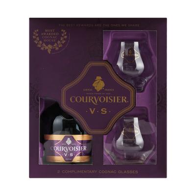 Courvoisier VS Cognac + 2 Glass Pack 750ml