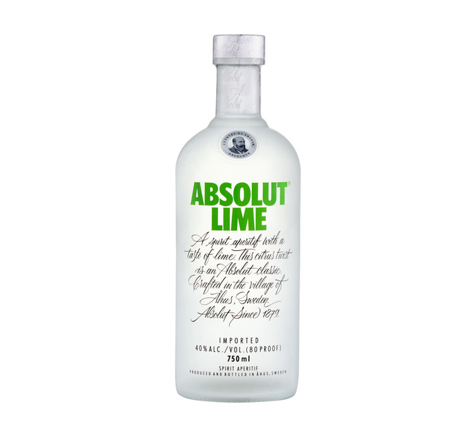 ABSOLUT VODKA LIME 750ML