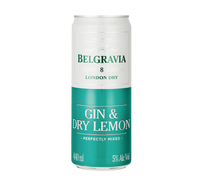 BELGRAVIA GIN&DRY LEMON SP/COOL 440ML