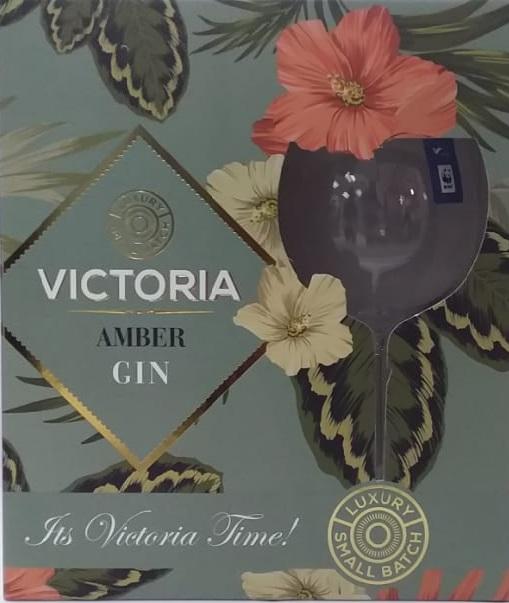 VICTORIA AMBER GIN GIFT PACK 750ML