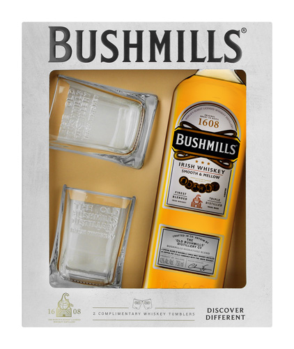 bushmills with 2 glasses