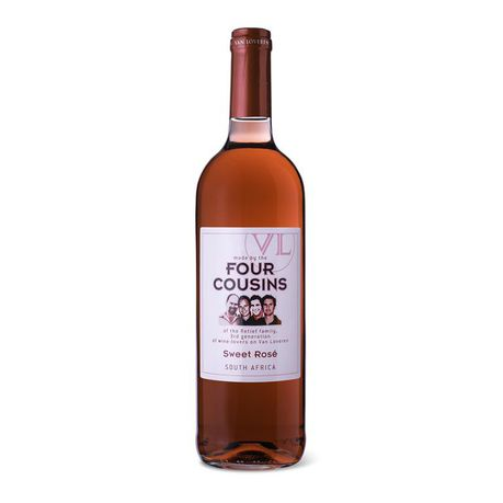 FOUR COUSINS NAT SWEET ROSE 750ML
