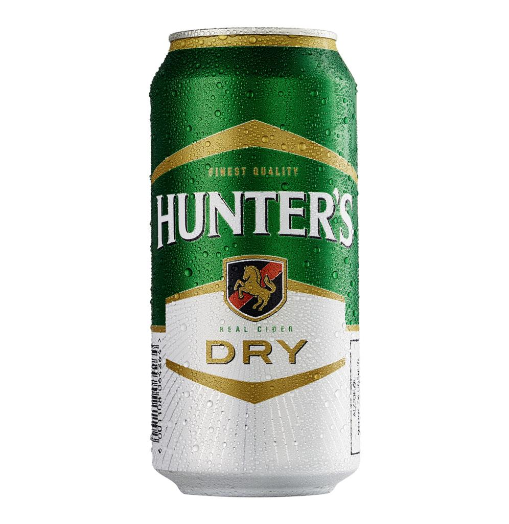 HUNTERS DRY CIDER CAN 440ML