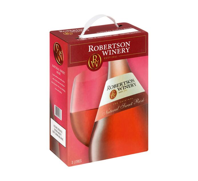 ROBERTSON NATURAL SWEET ROSE 3L