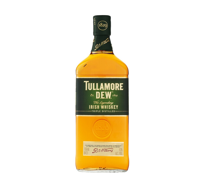 TULLAMORE DEW IRISH WHISKY 750ML